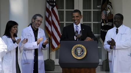 Barack Obama, Mona Magnat, Hershey Garner, Richard Evans